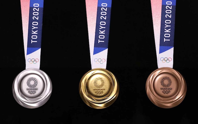 Tokyo 2020 Games are 100% made from recycled metals.